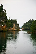 Passage through the Rock Islands
